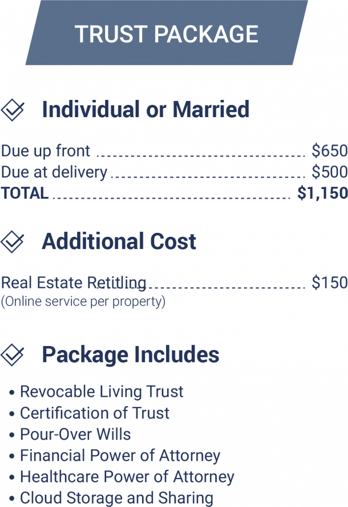Trust Package - Estate Planning Services and Pricing Guide